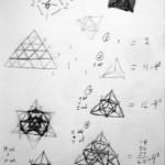 3-d Footprints of 4-d Pascal's Simplex